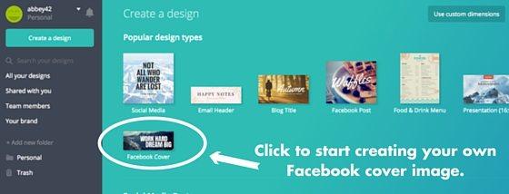branded Facebook profile
