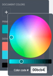This is where you will enter the HEX Color Code in Canva