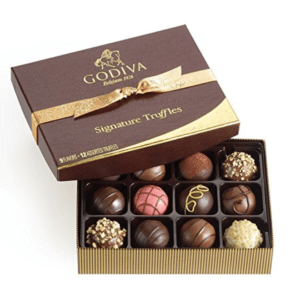 godiva chocolate virtual assistant gift guide