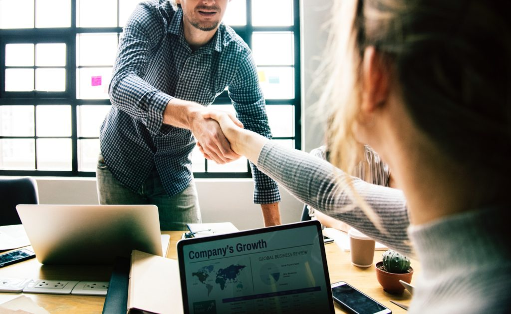 handshake over virtual assistant contracts