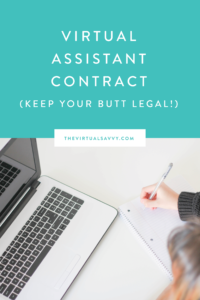 Let me tell ya, been there - done that AND you do not want this T-shirt! I'm talking about the headache of not having a good contract to protect your business. Let's keep your Virtual Assistant business legally covered with a great VA contract! In this video, I'm giving you 4 things you can do to protect your business now.