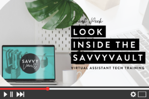 The Savvy Vault tech training preview